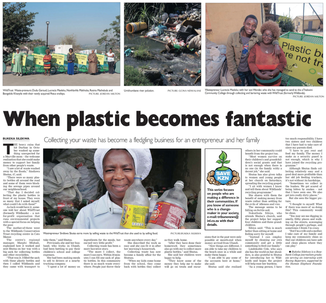 when plastic becomes fantastic snippet from news paper